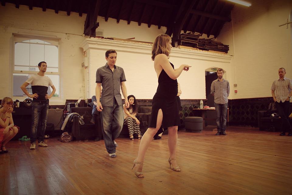 practising first dance